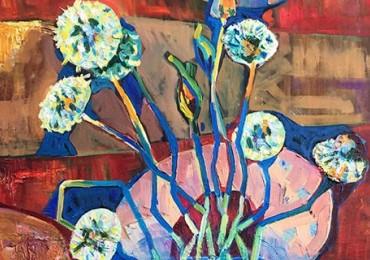 Художниця з Тячівщини Яна Магей представила в Мукачеві першу персональну виставку «Колірний акорд»