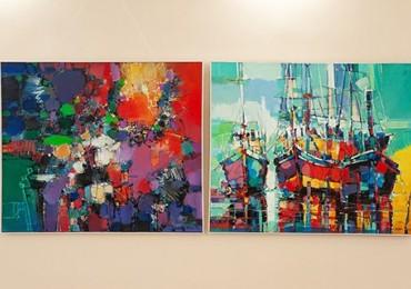 Тарас Усик представив в Ужгороді персональну виставку живопису та графіки